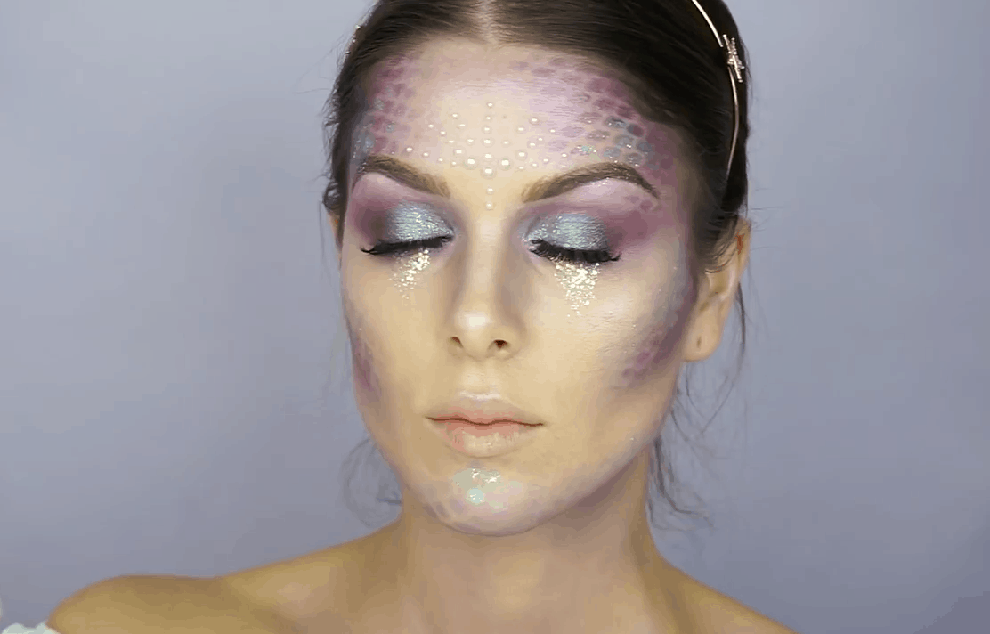 Halloween makeup: Mermaid Makeup by Rhiannon Claire