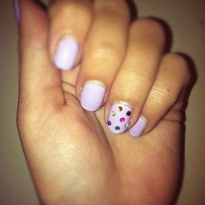diy nail art tutorial rhinestones  college fashion