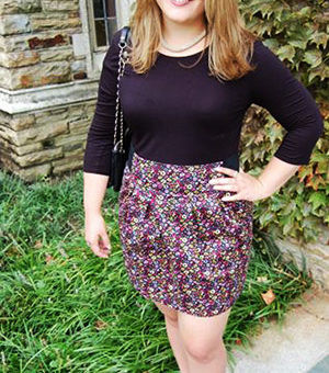 A college fashionista from Rhodes College - campus street style