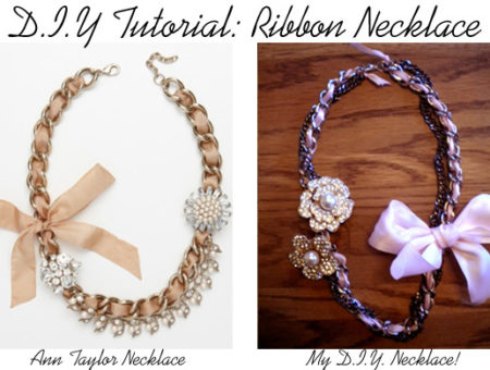 DIY Ribbon Necklace Tutorial
