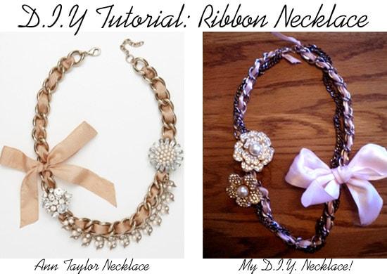 DIY Ribbon Necklace Tutorial