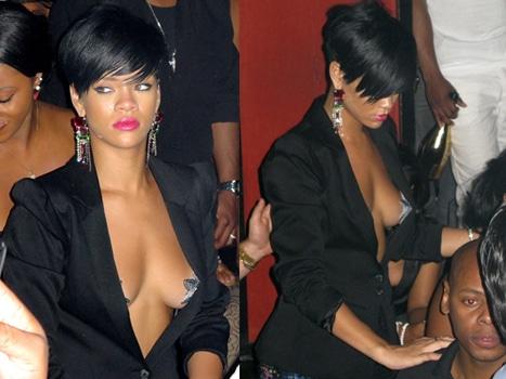 Rihanna wearing pasties