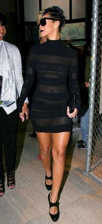 Rihanna Sheer Gareth Pugh Dress