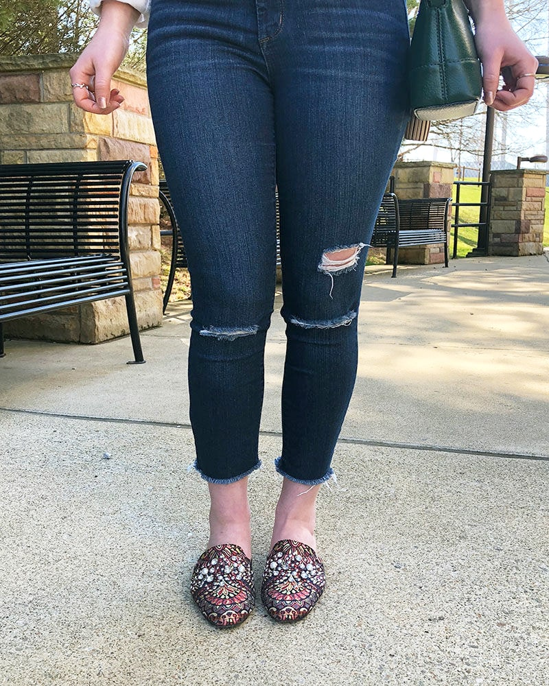 Ripped jeans on campus at WVU