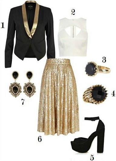 River island party look