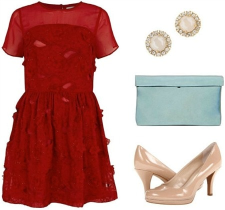 Romantic valentine's date outfit