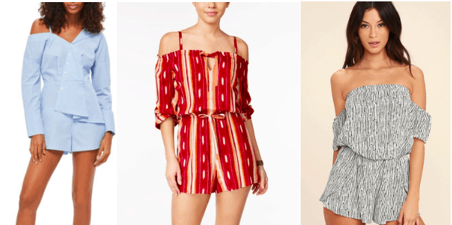 Off the shoulder rompers