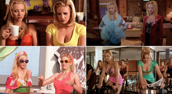Romy and MIchele's high school reunion fashion