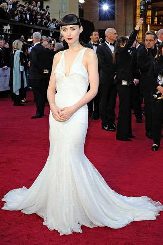 Rooney Mara in Givenchy Couture at the 2012 Academy Awards