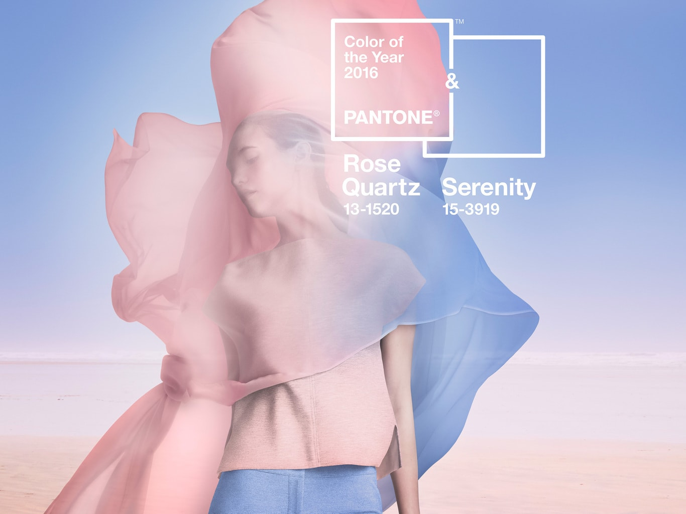 Pantone colors of the year 2016: Rose Quartz and Serenity
