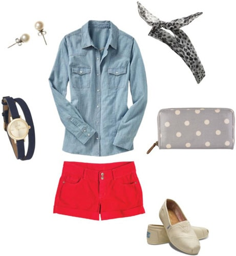 Outfit inspired by Rosie the Riveter