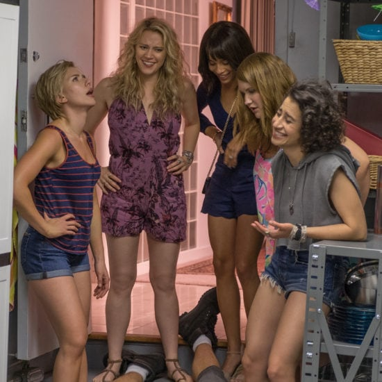 Rough Night Movie still -- Scarlett Johansson;Kate McKinnon; Zoe Kravitz ; Jillian Bell; and Ilana Glazer; in ROUGH NIGHT
