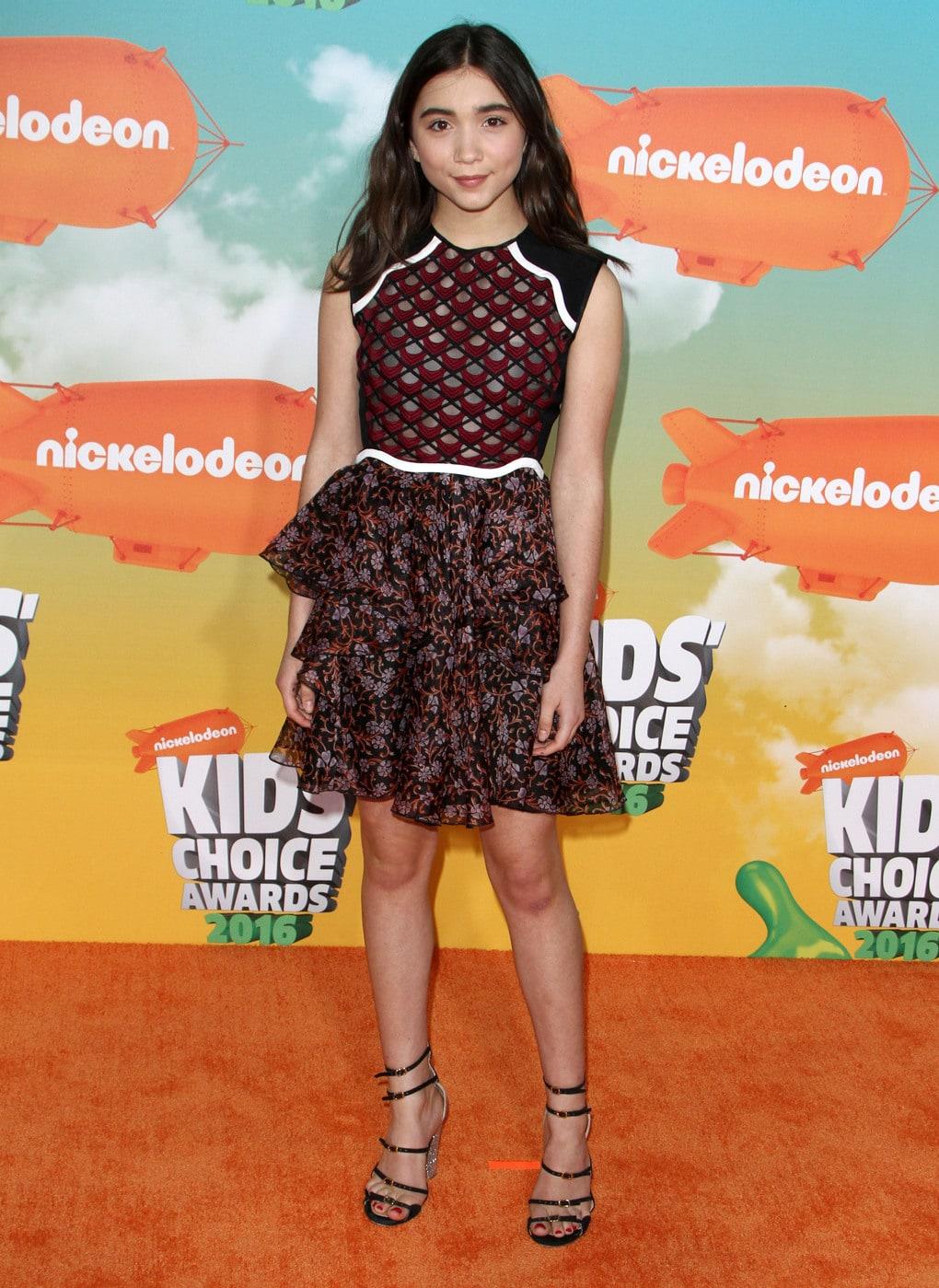 Rowan Blanchard at the Kids Choice Awards 2016