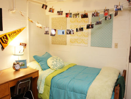 Rowan University dorm room