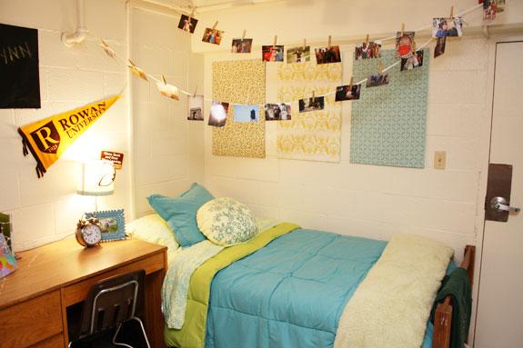 Rowan University dorm room