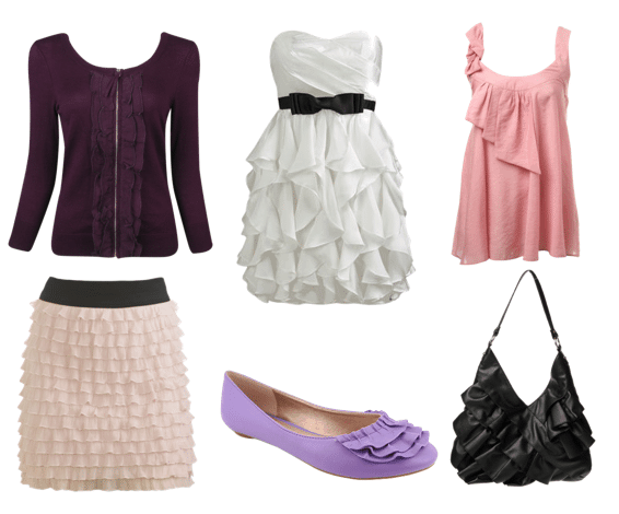 Outfit inspired by ruffles - Golden Globes 2010 fashion