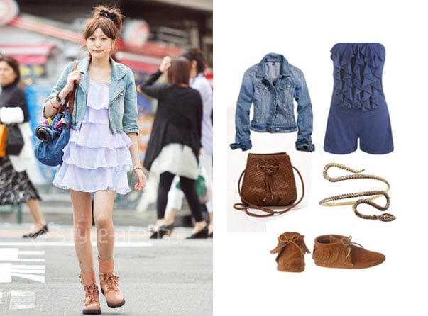 Street style outfit with ruffles