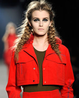 Messy braids on the runway at Y-3 Fall 2011