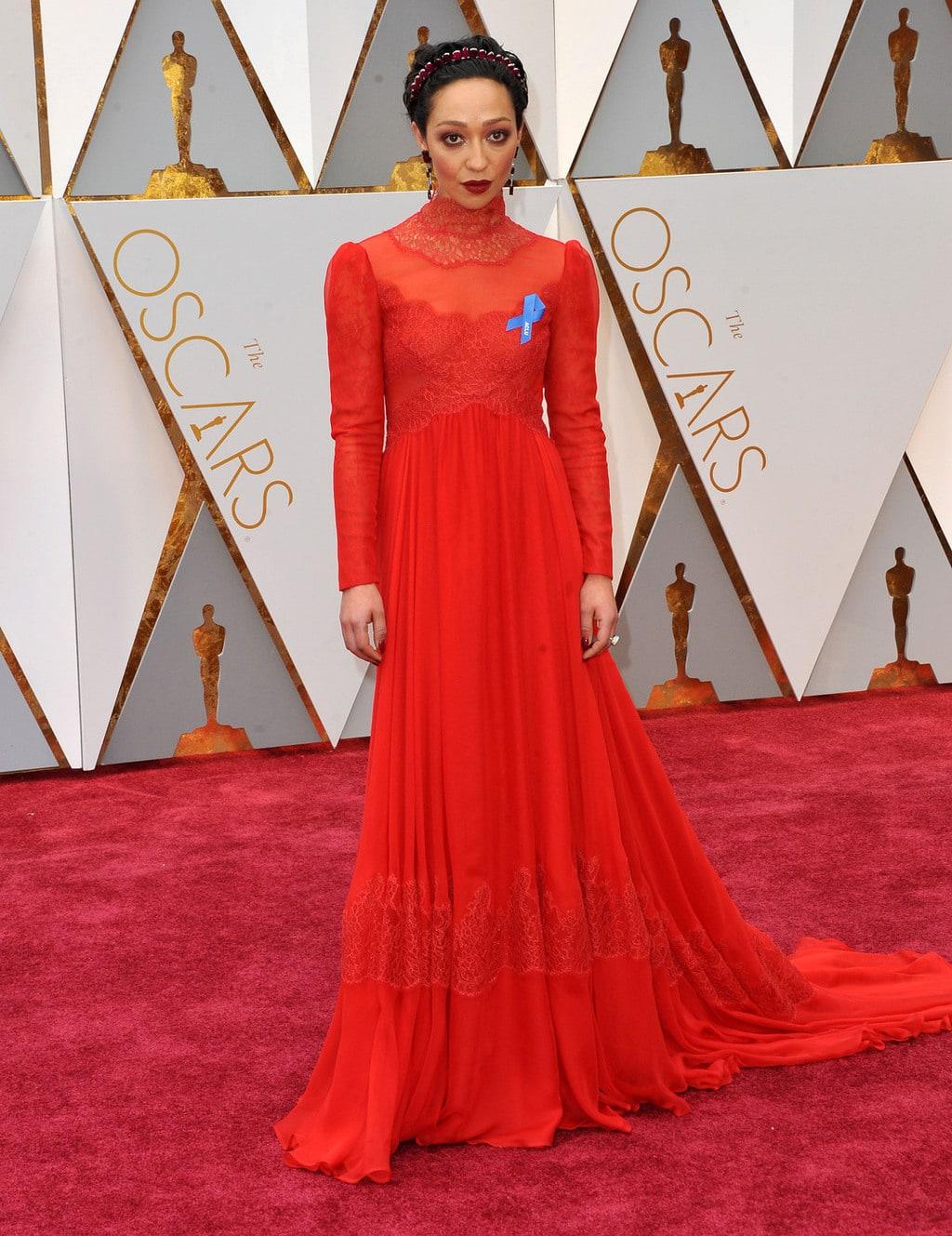 Ruth Negga in Custom Valentino at the 2017 Oscars