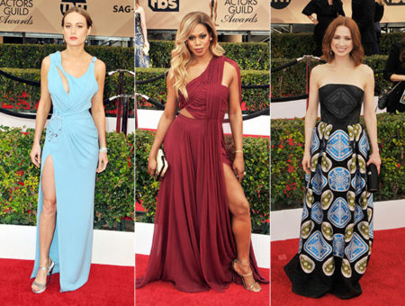 2016 SAG Awards fashion: Brie Larson, Laverne Cox, and Ellie Kemper