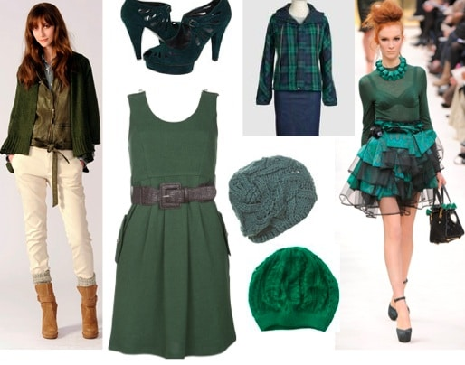 Sage colored clothing and accessories