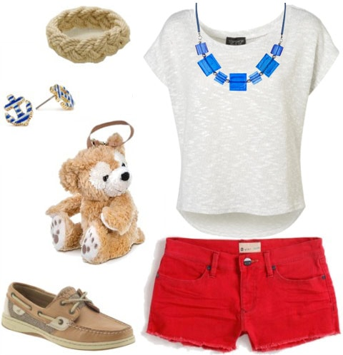 Nautical and adorable outfit inspired by Duffy the Disney Sailor Bear
