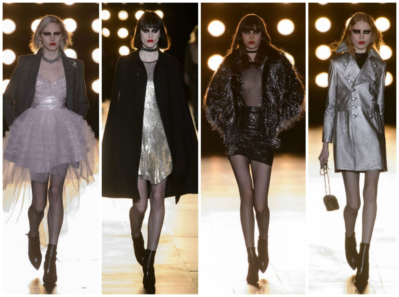 saint laurent runway looks