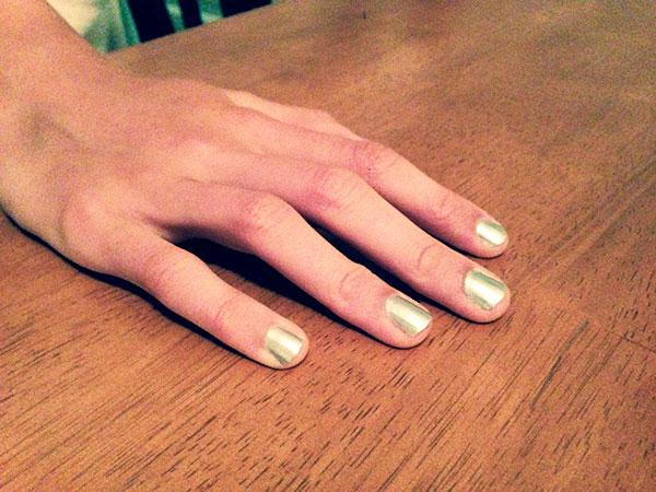 Sally hansen metallic nails
