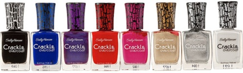 Sally Hansen Crackle Overcoat Nail Polish Bottles