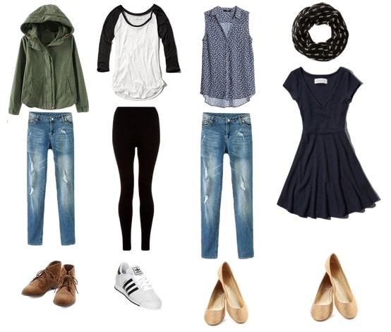Sample travel outfits