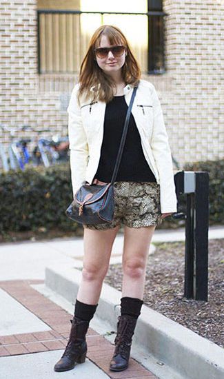 College street style at Savannah College of Art and Design