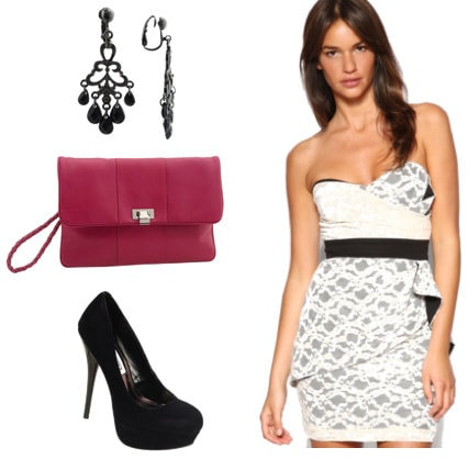 Lace Dress outfit inspired by Scarlett Johansson at the MTV Movie Awards