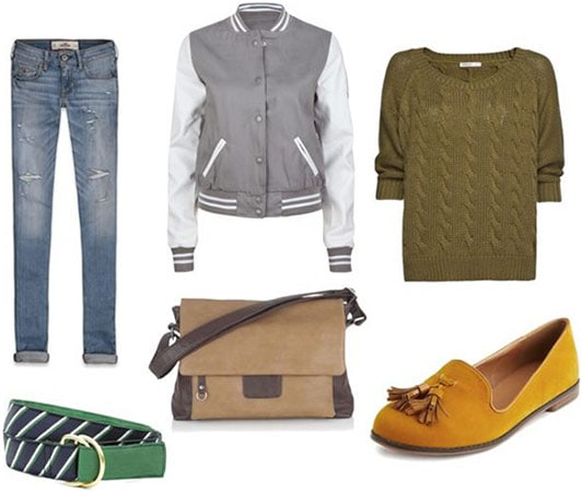 Preppy schoolwear outfit 1