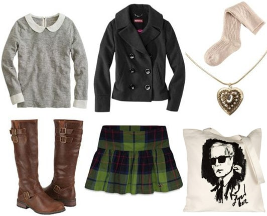 Preppy schoolwear outfit 2
