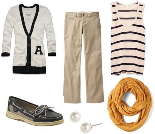 Preppy schoolwear outfit 3