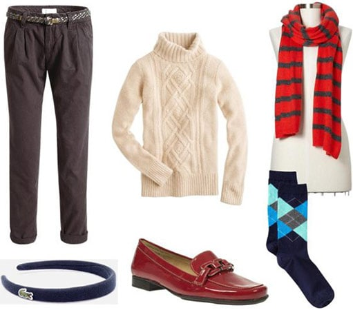 Preppy schoolwear outfit 4