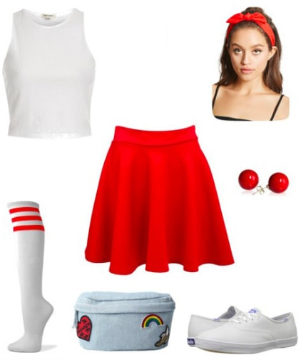School spirit game day outfit idea inspired by USC