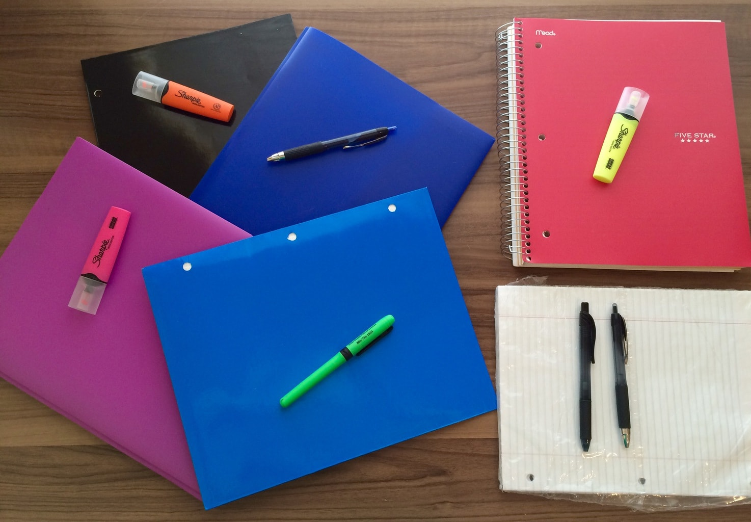 note-taking supplies