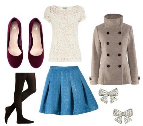Metallic Skirt Sample Outfit