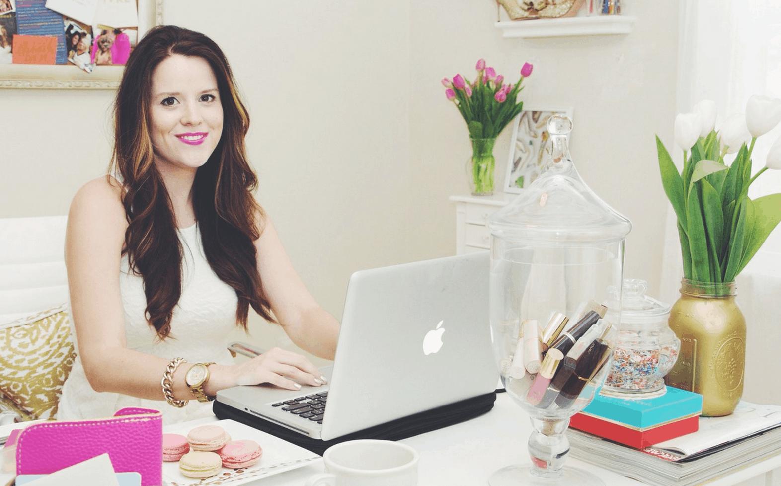 Kathryn Elise Snellen at desk