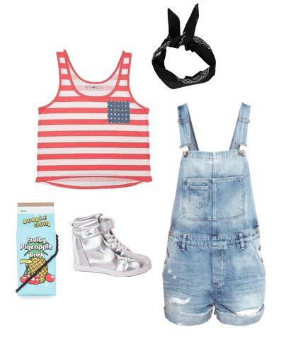 all american overalls outfit
