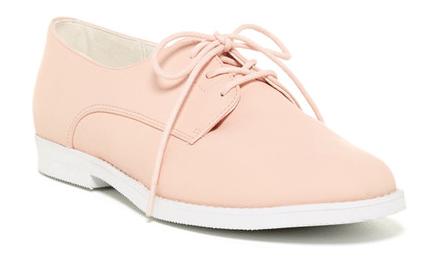 pastel pink oxford