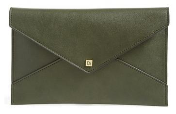 army green clutch