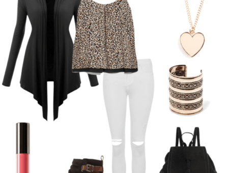 Leopard print top class outfit