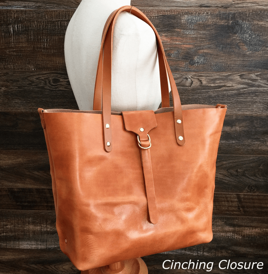 hana ku tote leather