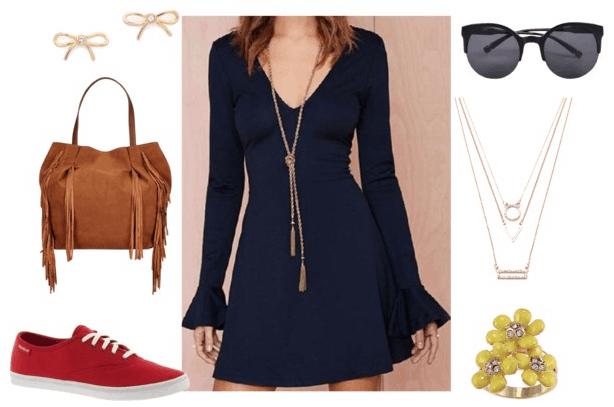 Bell Sleeve Mini Dress class