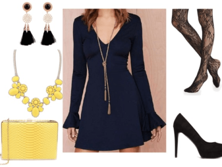 Bell Sleeve Mini Dress night out