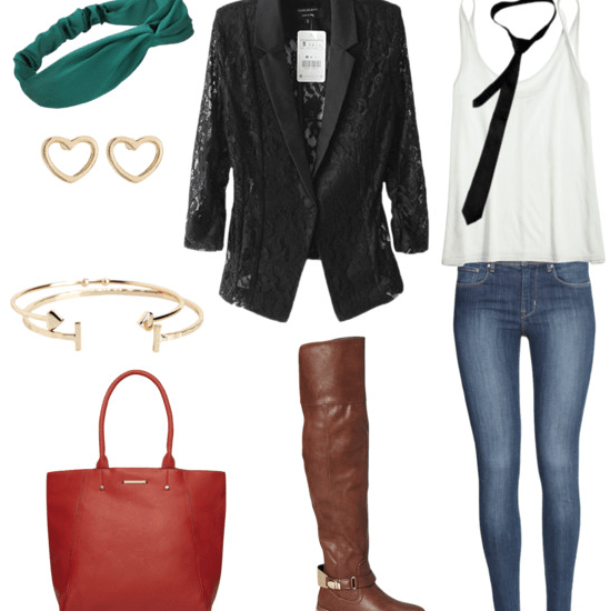 lace blazer class outfit 2