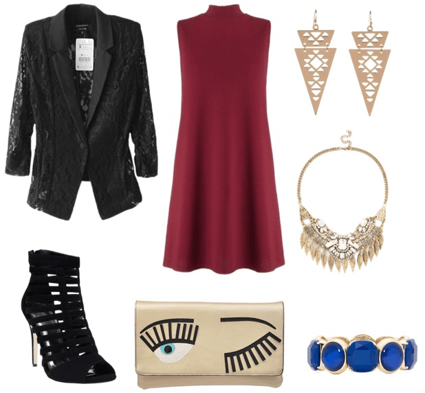 lace blazer night out look
