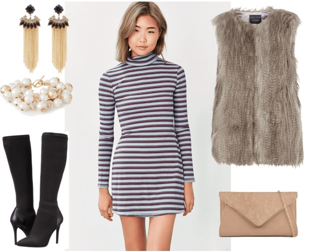 turtleneck dress night out outfit